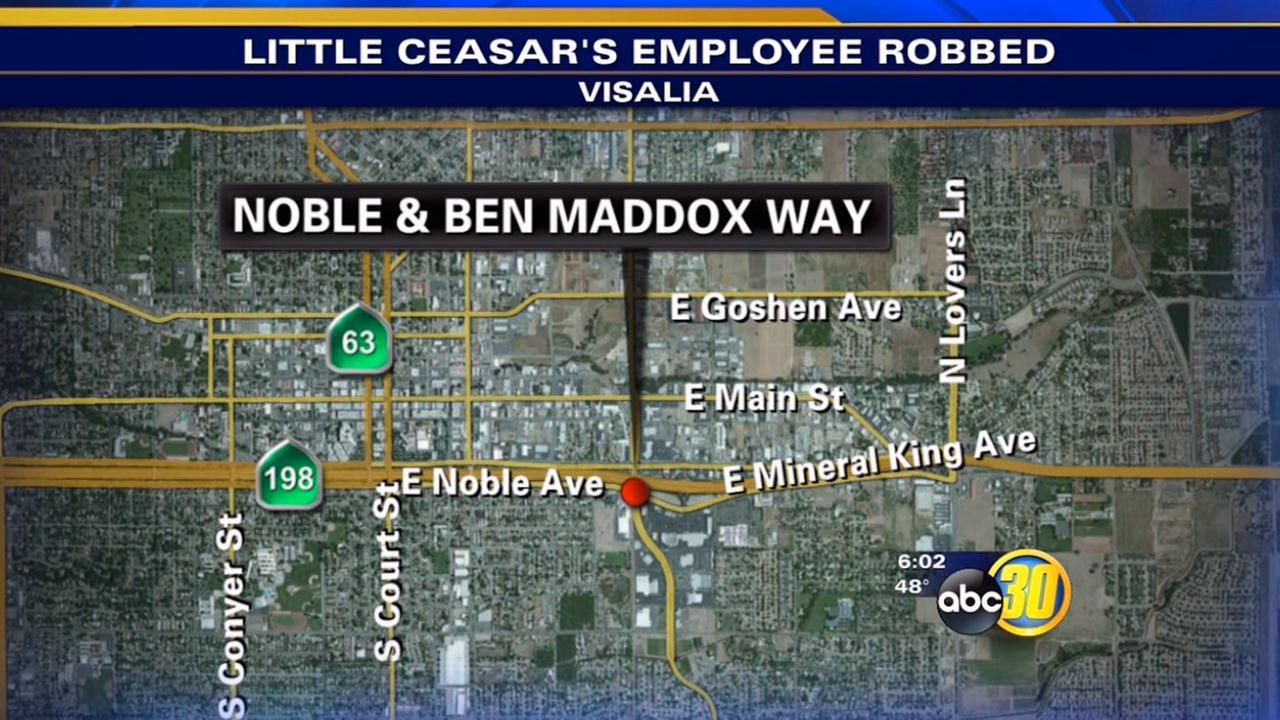 Visalia Little Caesars Pizza employee robbed in parking lot