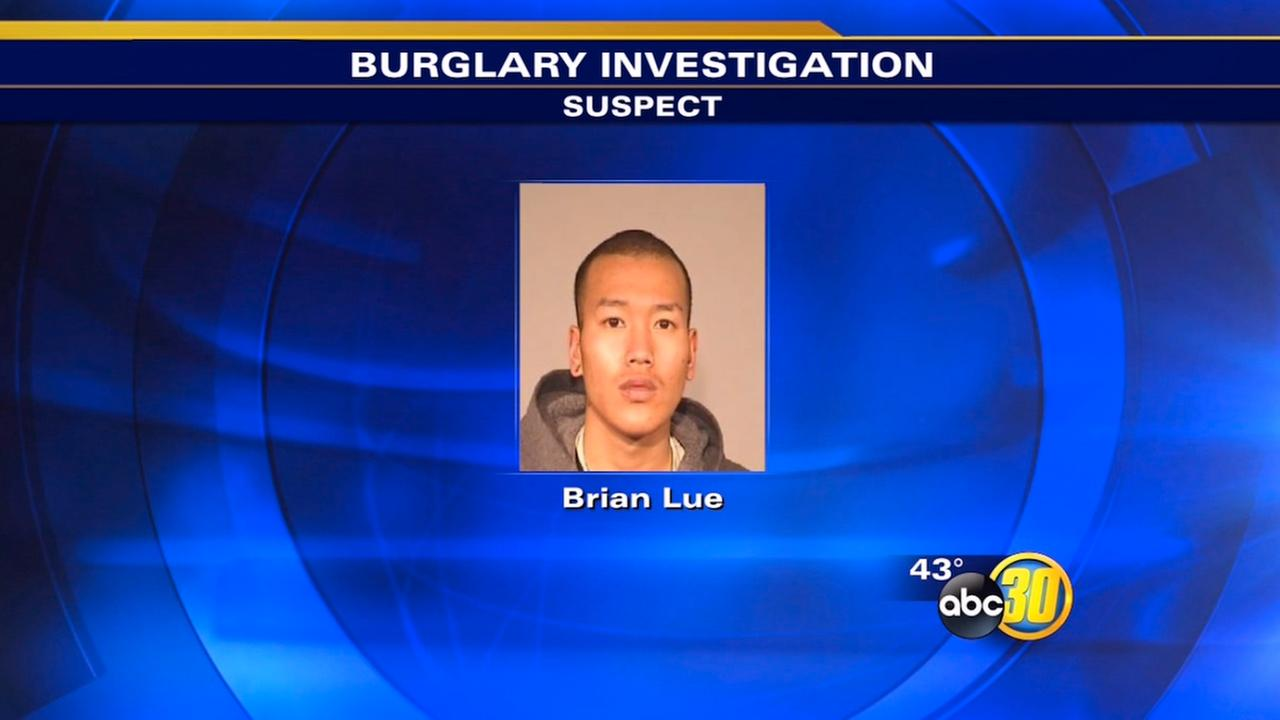 Fresno suspect caught behind burglarized cellphone store
