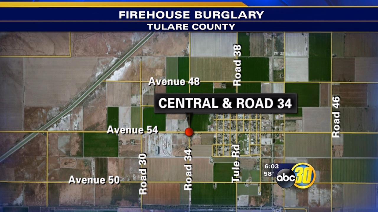 Tulare County firehouse burglary