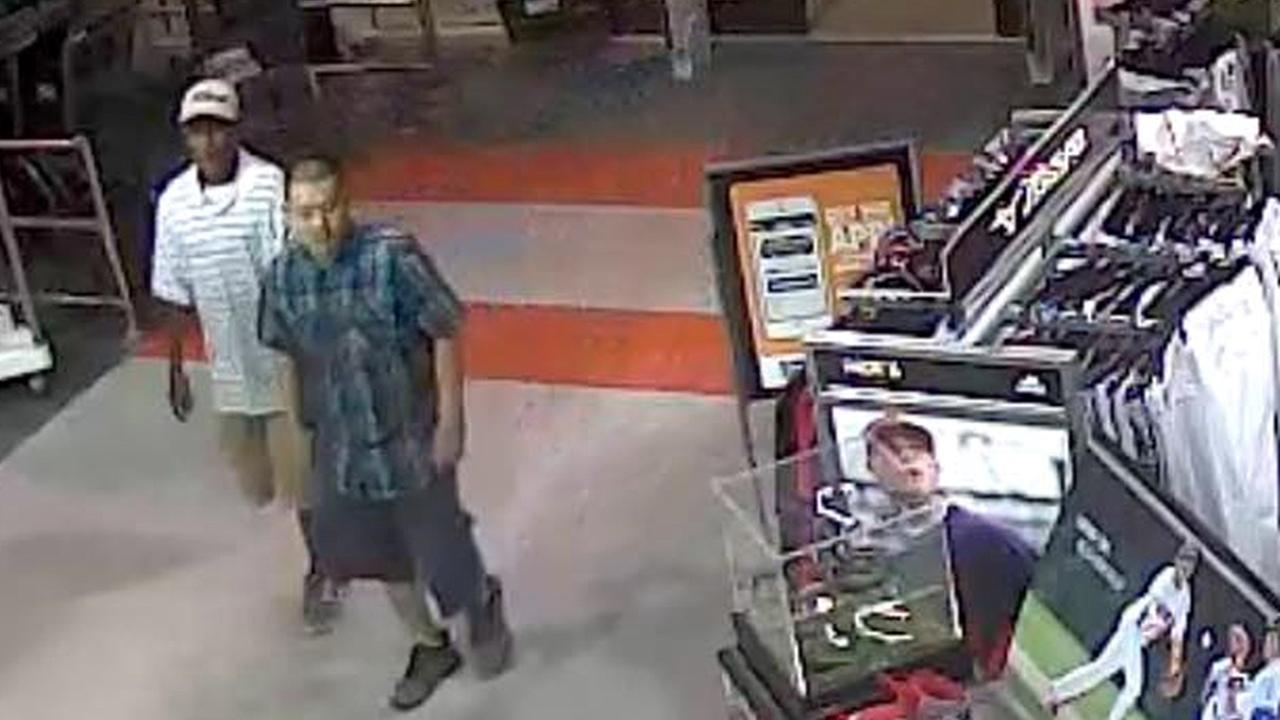 Clovis Dicks Sporting Goods grand theft suspects sought
