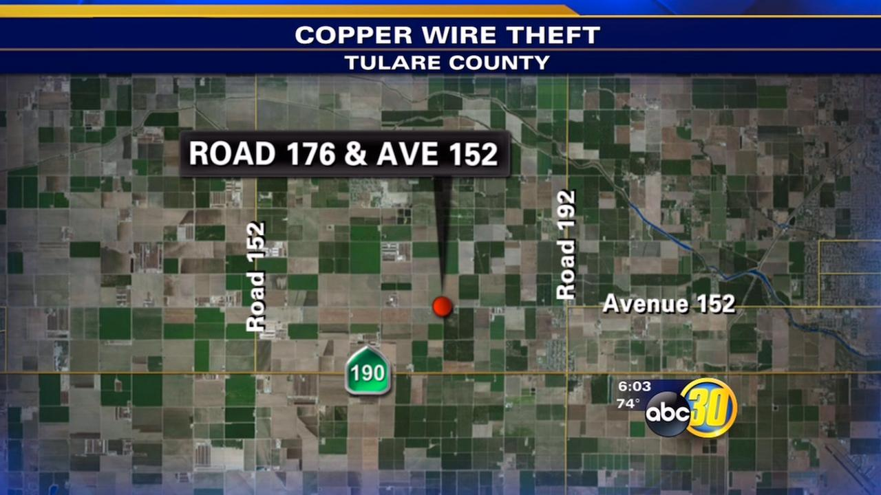 Copper wire thief hits Tulare County irrigation pump