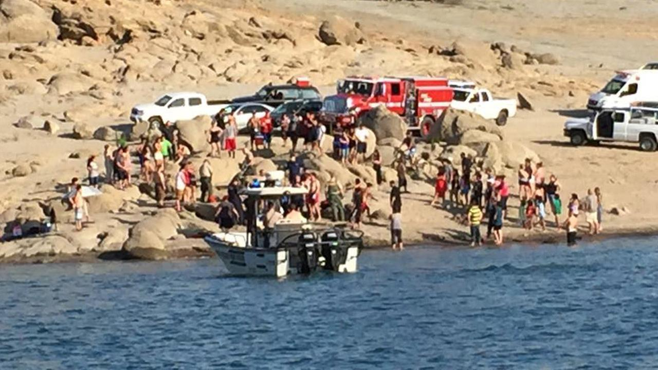 A girl was rescued from the water at Millerton Lake on Sunday, May 24, 2015.