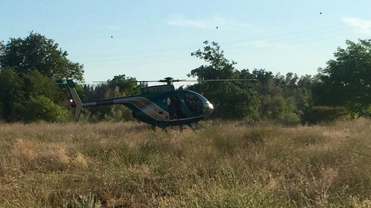 The Fresno County sheriffs helicopter, Eagle 1, is seen in this photo on Sunday, June 7, 2015.