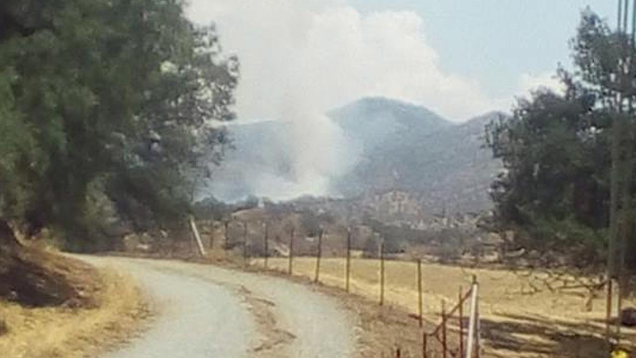 The Triple Fire broke out in the Springville area in Tulare County on Tuesday, July 21, 2015.