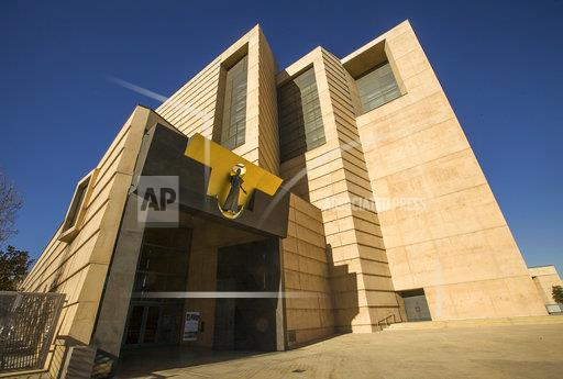 FILE- Photo shows the entrance to the Cathedral of Our Lady of the Angels, headquarters for the Roman Catholic Archdiocese of Los Angeles. (AP Photo/Damian Dovarganes, File)