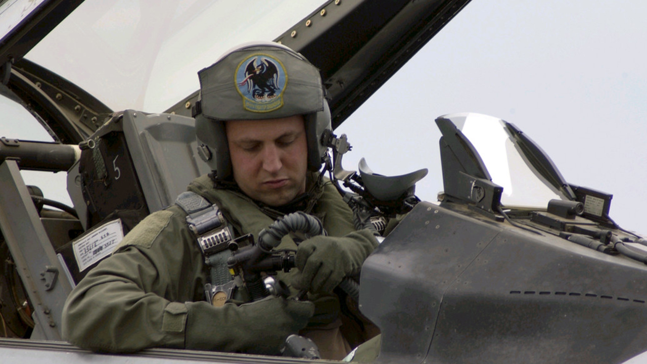 Captain Nehring is an F-16 Fighting Falcon pilot with California Air National Guards 194th Fighter Squadron in Fresno. (U.S. Air Force photo by Senior Master Sgt. Chris Drudge)