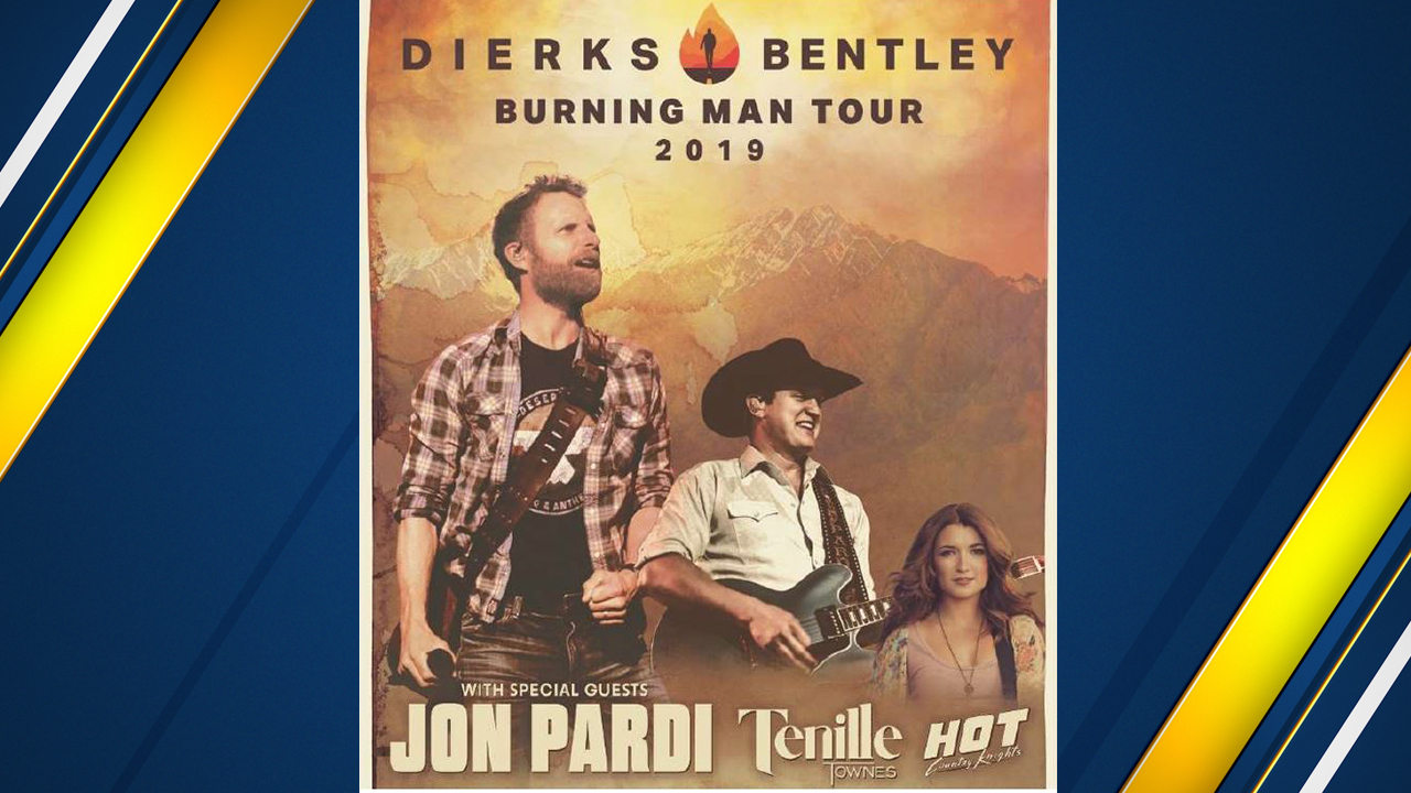 Mark your calendars! Dierks Bentley will be performing at the Save Mart Center on February 15, 2019.