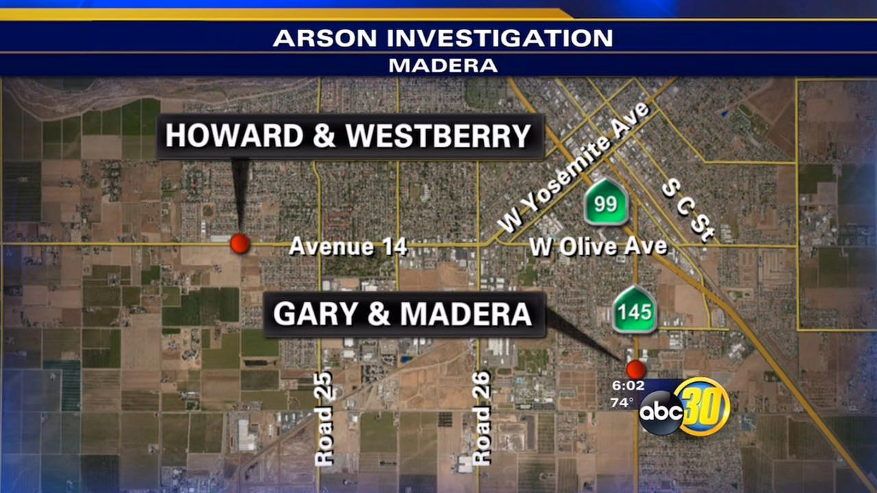 Police look for possible car arsonist in Madera