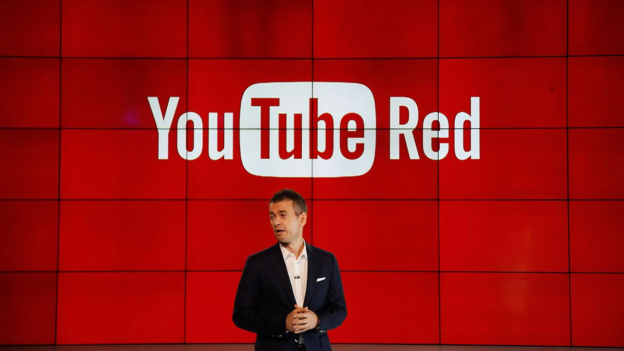 Robert Kyncl, YouTube Chief Business Officer, speaks as YouTube unveils YouTube Red, a new subscription service, at YouTube Space LA offices Wednesday, Oct. 21, 2015.