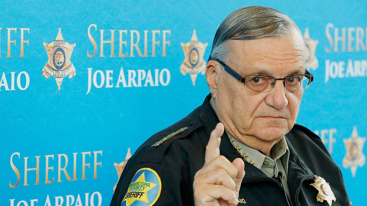 In this Dec. 18, 2013, file photo, Maricopa County Sheriff Joe Arpaio speaks at a news conference at the Sheriffs headquarters in Phoenix.