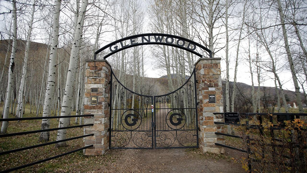The Glenwood Cemetery gate is shown Thursday, Oct. 29, 2015, in Park City, Utah.