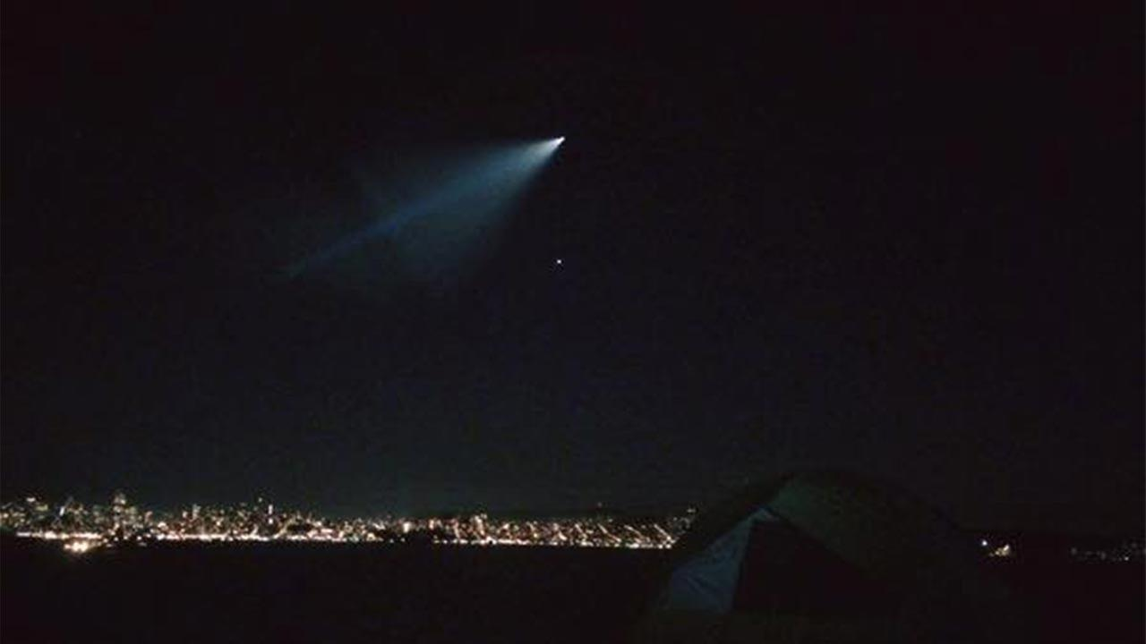 Navy does missile test off coast, creates streaking light