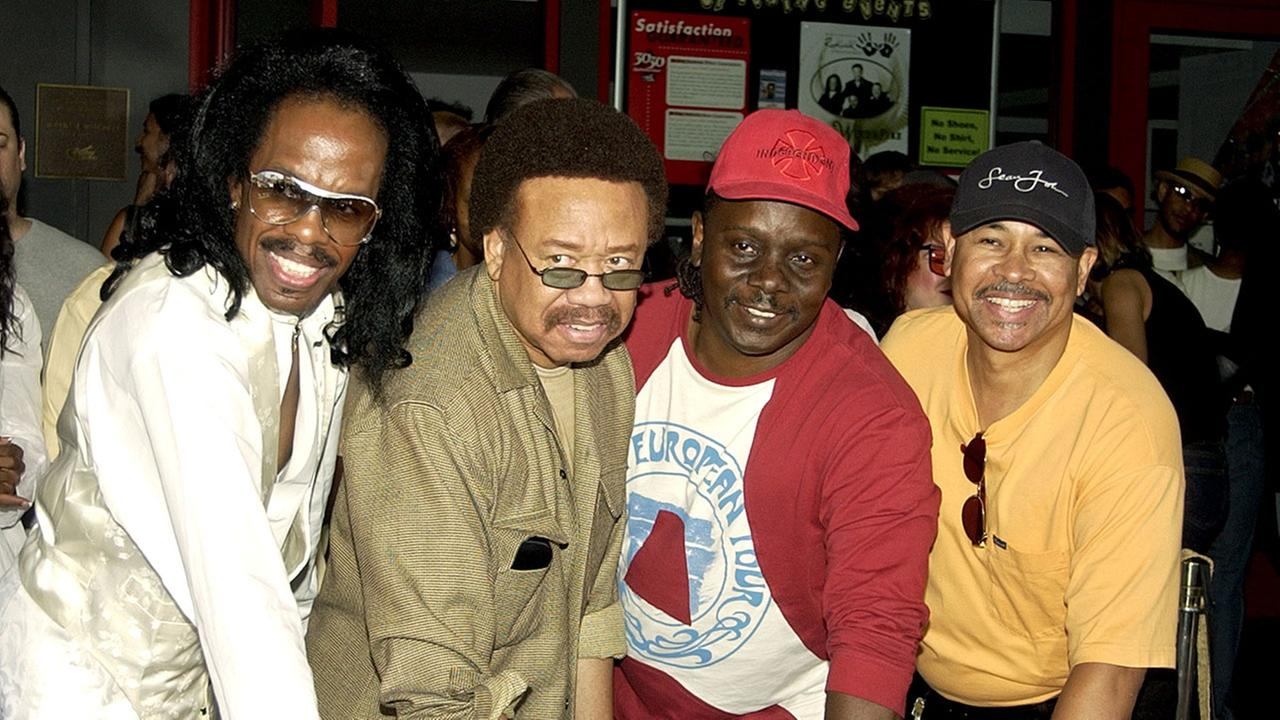 Earth, Wind, and Fire members, from left, Verdine White, Maurice White, Philip Bailey and Ralph Johnson 2003 (AP Photo/Matt Sayles)