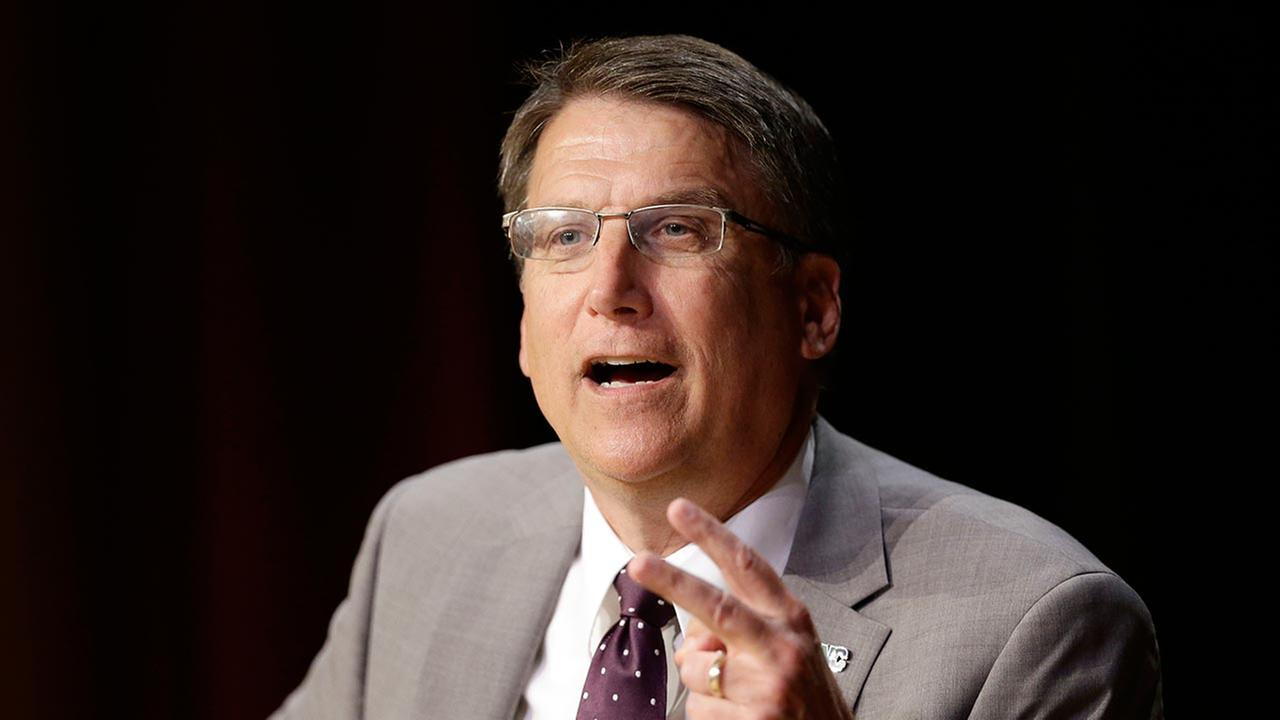 North Carolina Gov. Pat McCrory makes remarks concerning House Bill 2, which limits protections to lesbian, gay, bisexual and transgender people