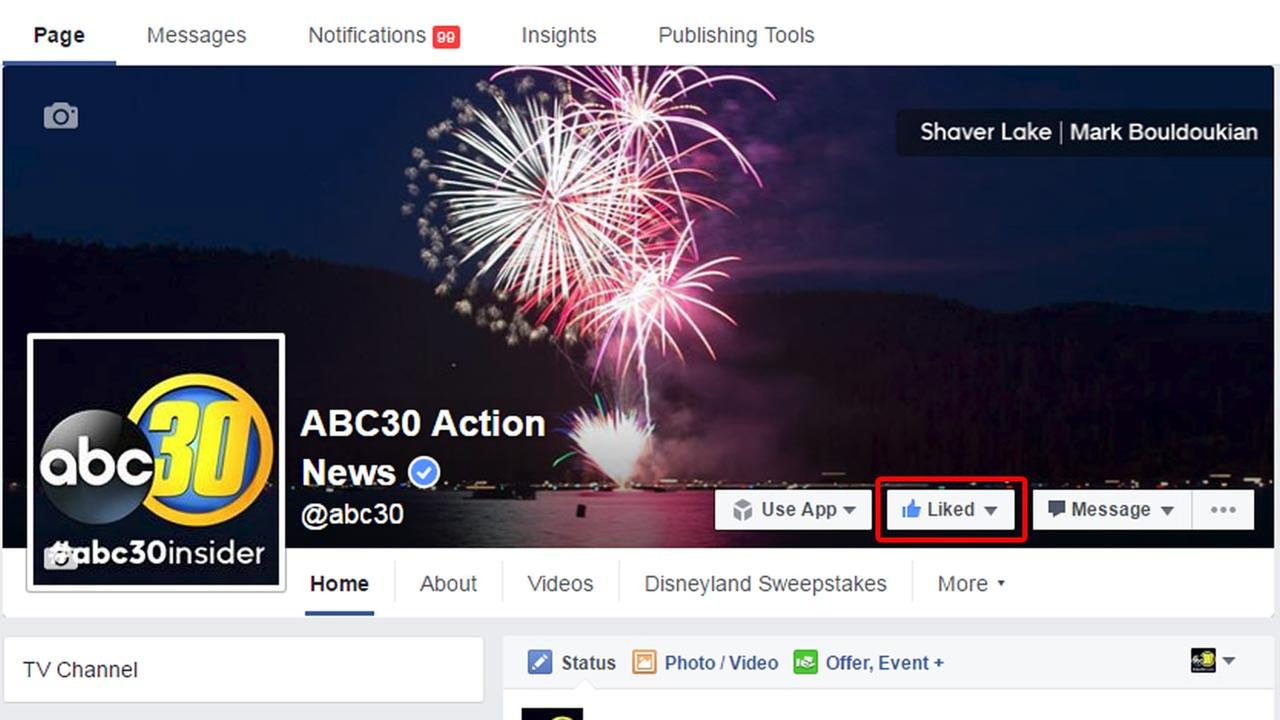 How to keep getting abc30 on your Facebook feed