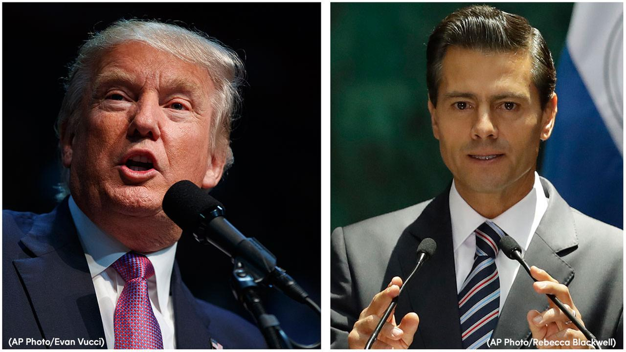 Donald Trump will travel to Mexico on Wednesday to meet with President Enrique Pena Nieto, just hours before the Republican delivers a highly anticipated speech on immigration.