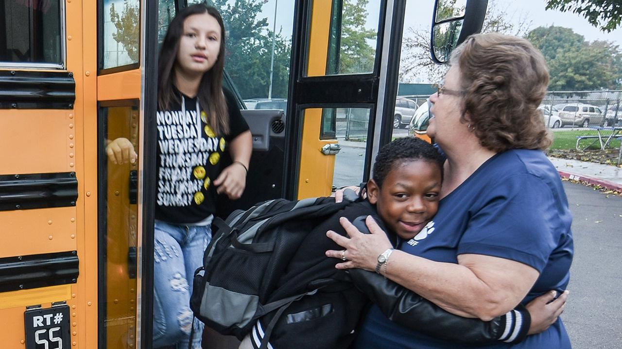 Ayer Elementary School Resource Lab Aide is First to Greet Students