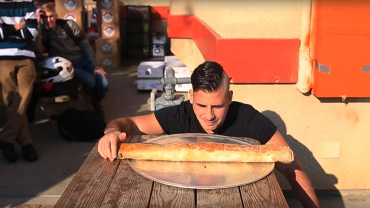 Visalia man is first to conquer the Anaconda burrito