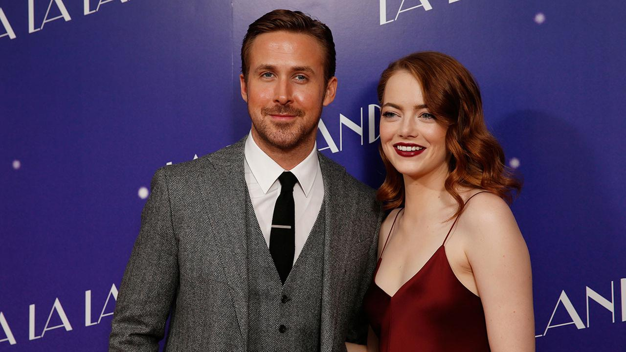 Actors Ryan Gosling and Emma Stone pose for photographers upon arrival at the screening of the film La La Land in London (Photo by Joel Ryan/Invision/AP)