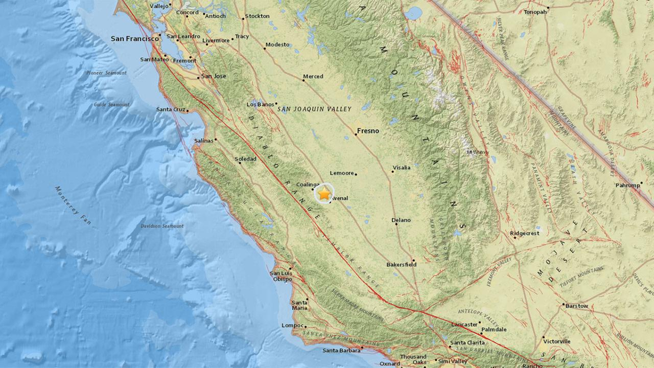 3.6 earthquake strike near Avenal, USGS reports
