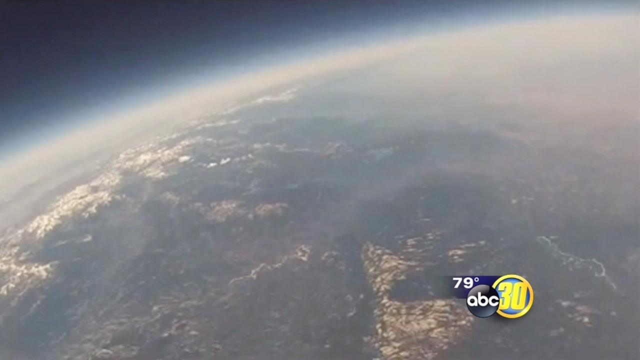 Mariposa County students weather balloon provides amazing video