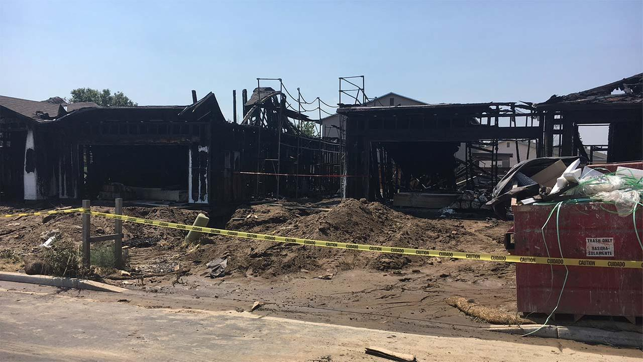 Two homes under construction on Visalias east side went up in flames overnight. The cause is under investigation