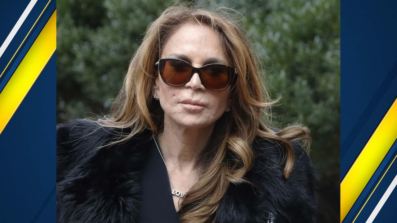 Blogger Pamela Geller arrives at federal court in Boston for the sentencing hearing of David Wright, who was convicted of leading a plot to behead her. (AP Photo/Bill Sikes)