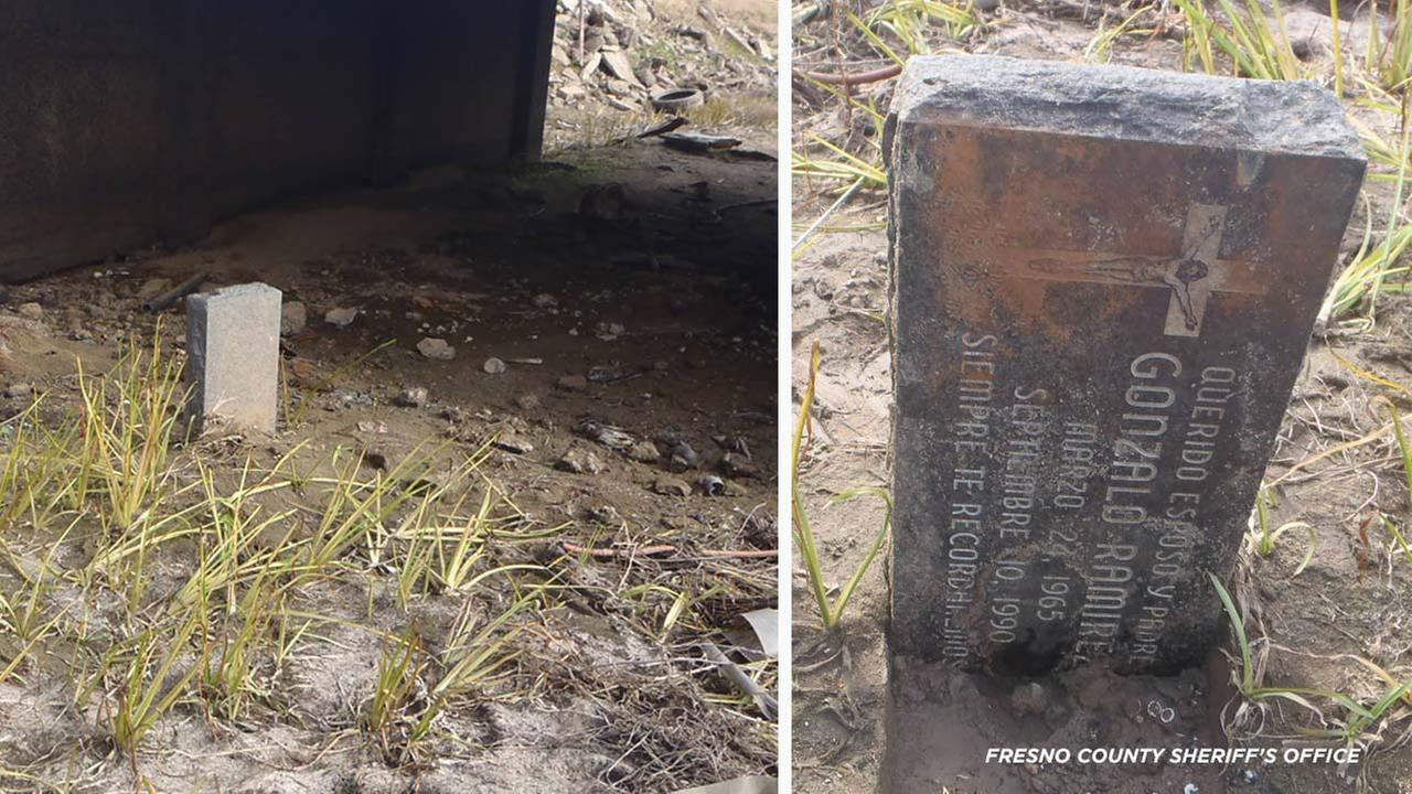 Family reunited with headstone stolen years ago found in dry canal bed in Fresno County