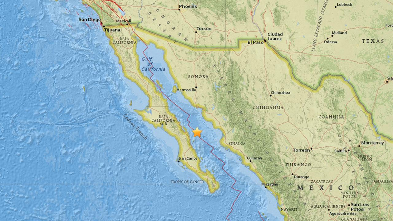6.5 earthquake strikes in the Gulf of California, Mexico