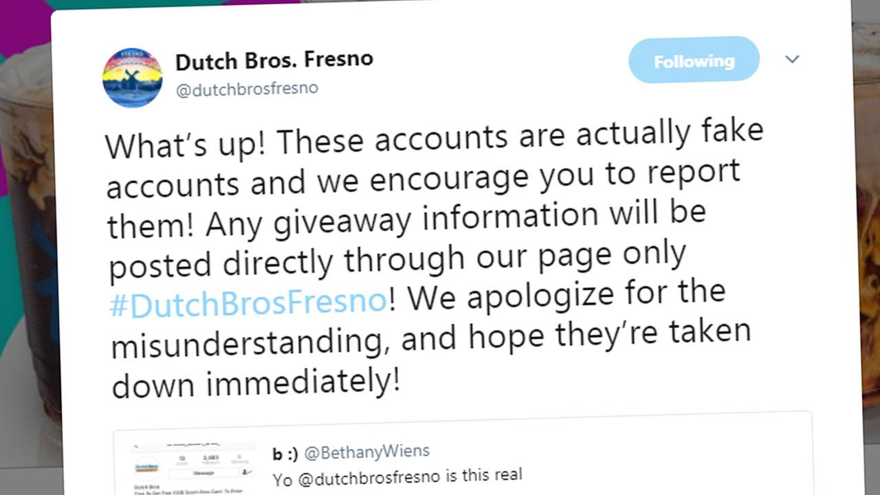 SCAM ALERT: Dutch Bros Fresno puts fake Twitter  account on blast