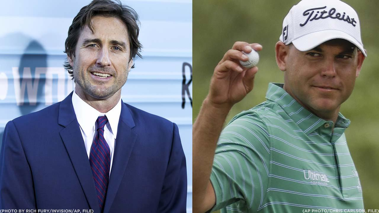 Actor Luke Wilson (Left) and golfer Bill Haas (Right)