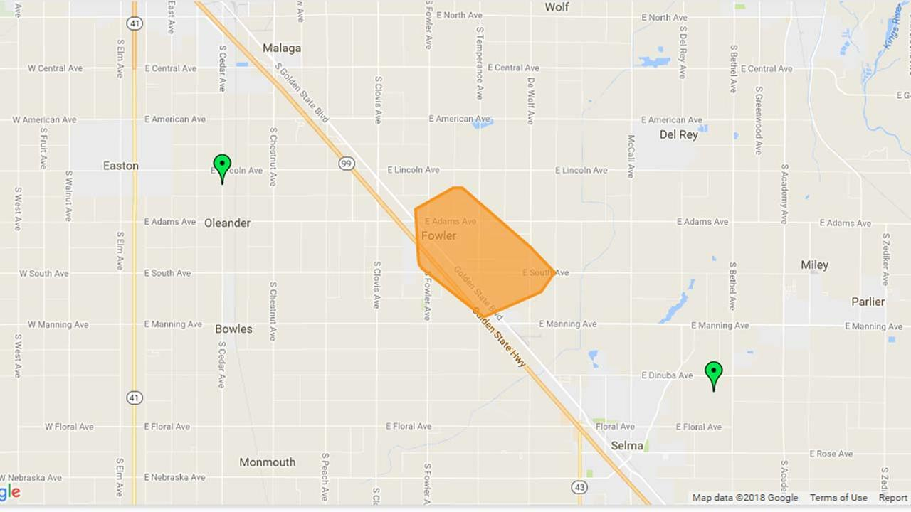 Power outage in Fowler impacting over 1,400 people