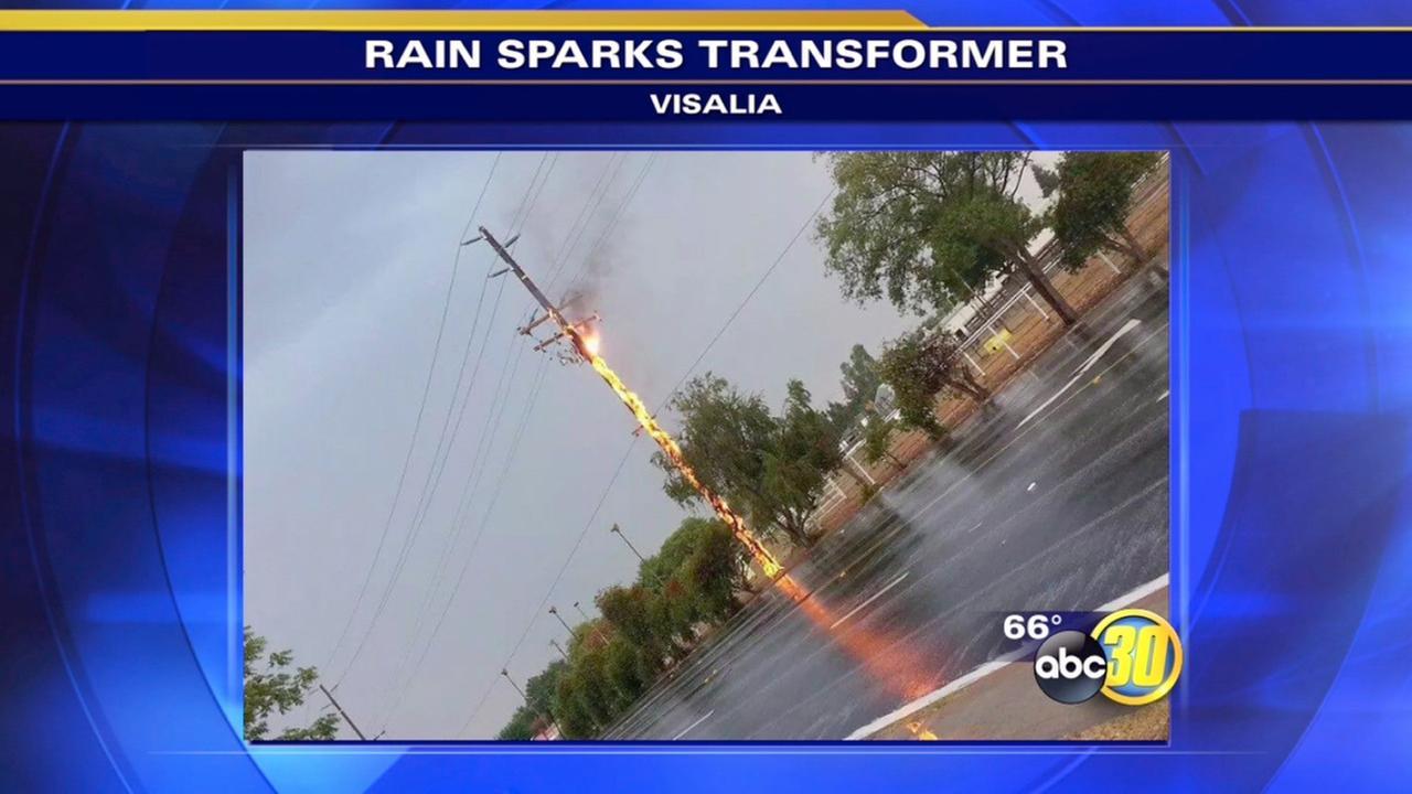 Rain Causes Transformer Fire In Visalia