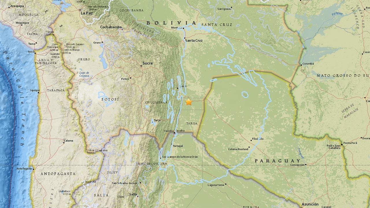 Magnitude 6.8  earthquake strikes Bolivia