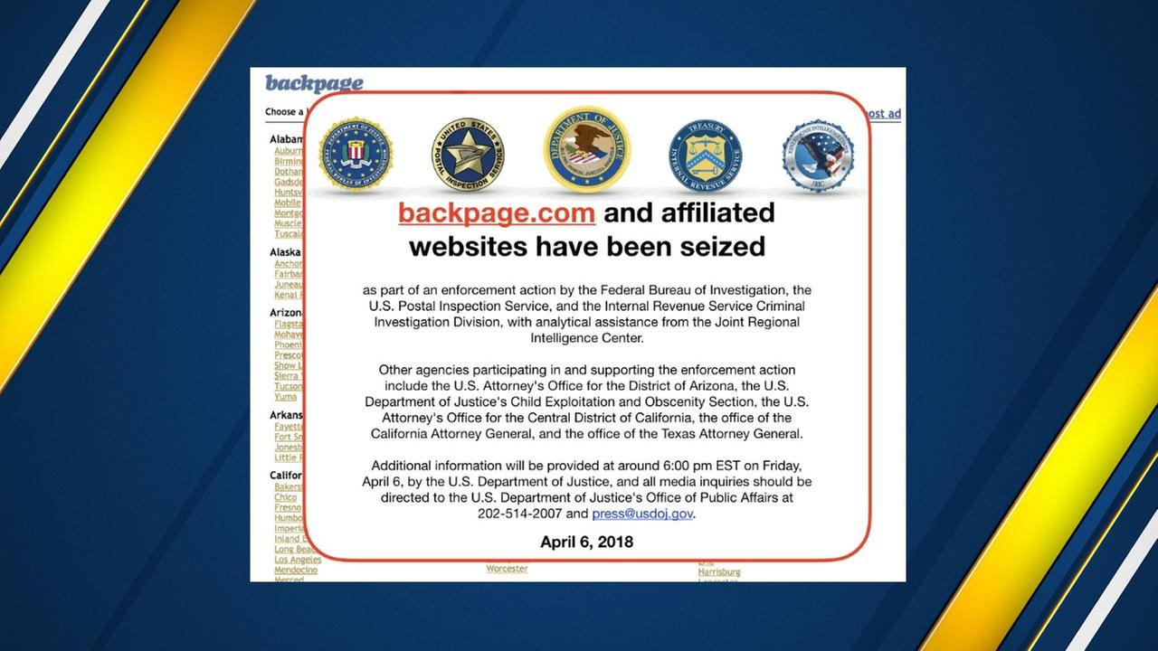 Screen capture of backpage.com on April 12th 2018
