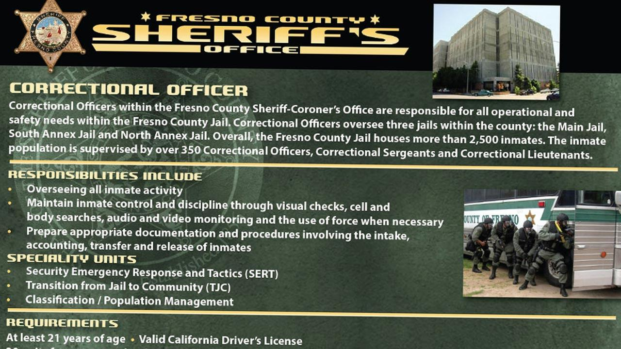 Fresno County Sheriff's Office looks to hire correctional officers for the county jail