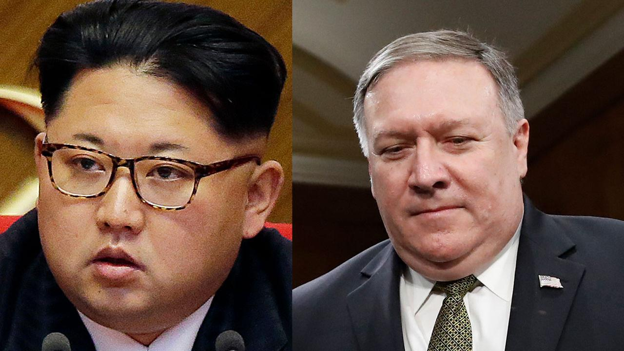 CIA Director Mike Pompeo has met with North Korean leader Kim Jong Un, officials say