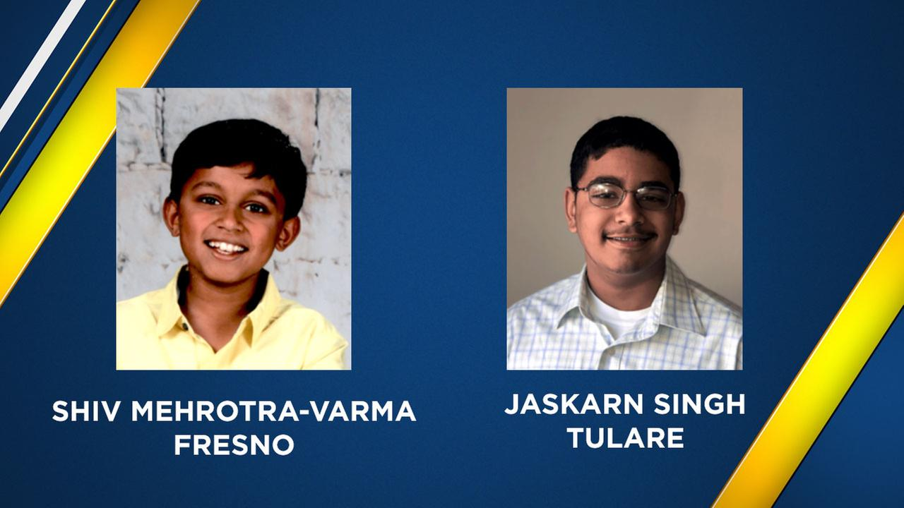 Shiv Mehrotra-Varma, 11, from Fresno and Jaskarn Singh, 13, from Tulare will be competing at the 2018 Scripps National Spelling Bee.