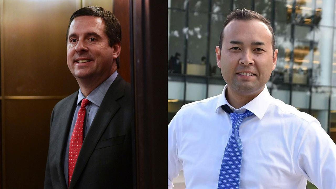 FILE - Rep. Devin Nunes (R-Tulare) and his 2018 Democratic challenger, Andrew Janz