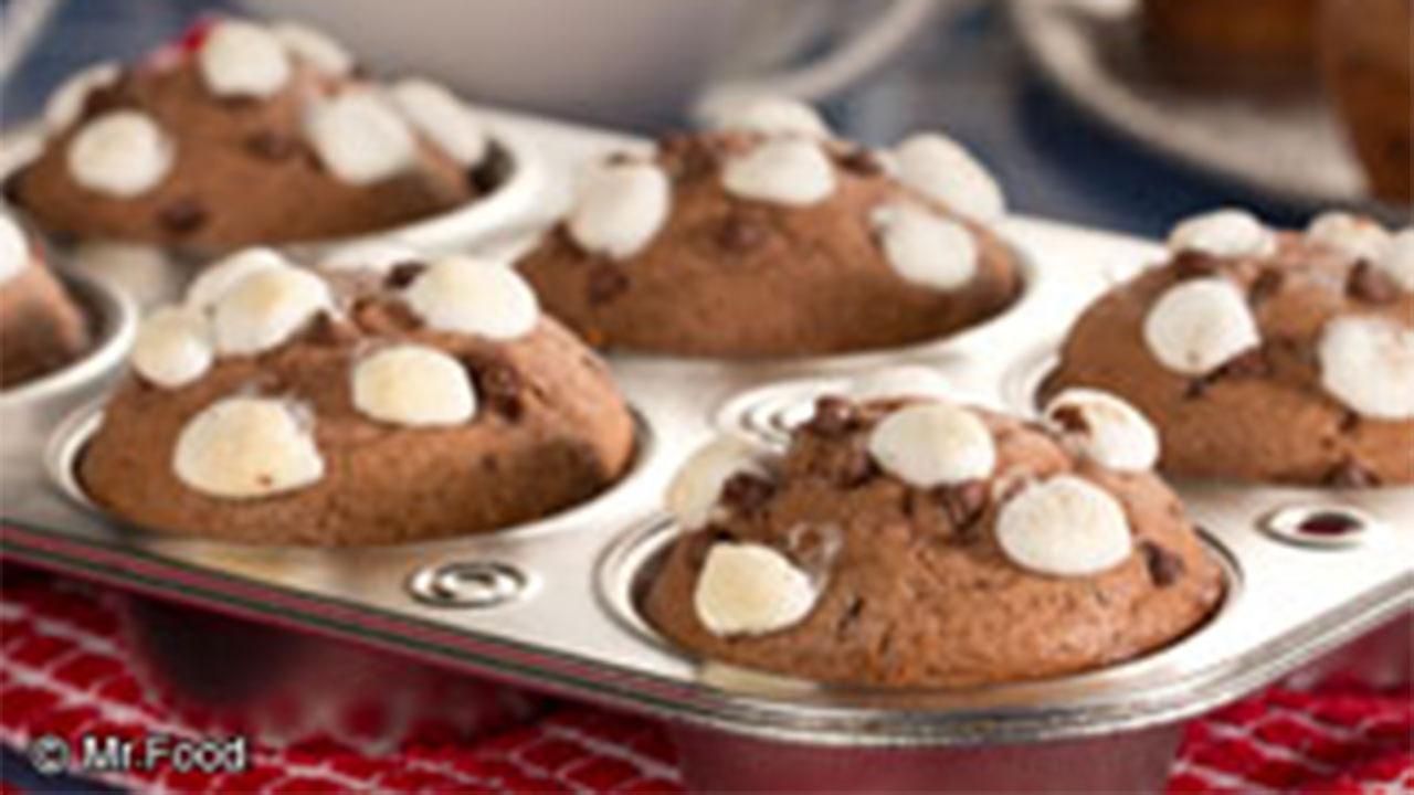 Hot Chocolate Muffins recipe