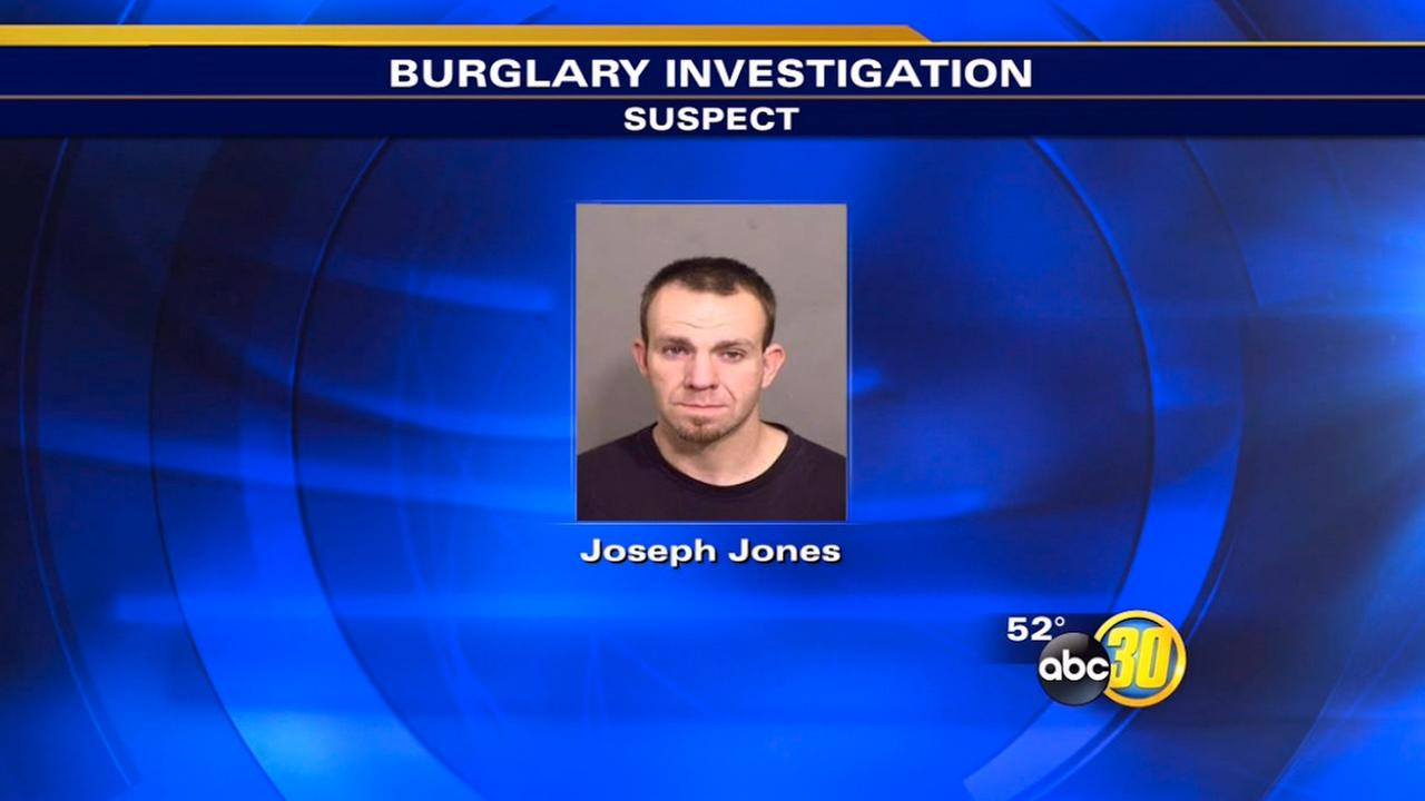 Officers arrested Joseph Jones early Saturday morning.
