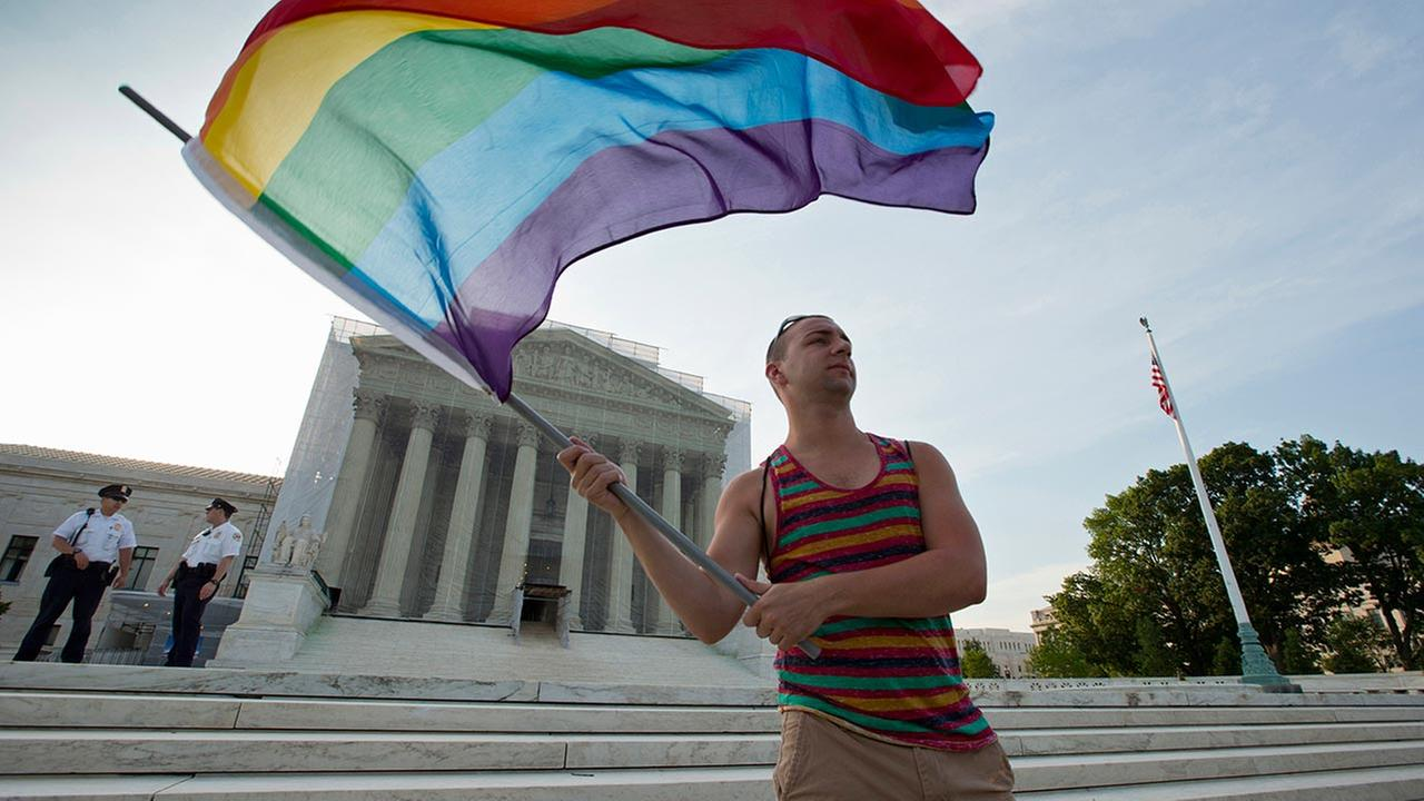 Supreme Court - rainbow flag
