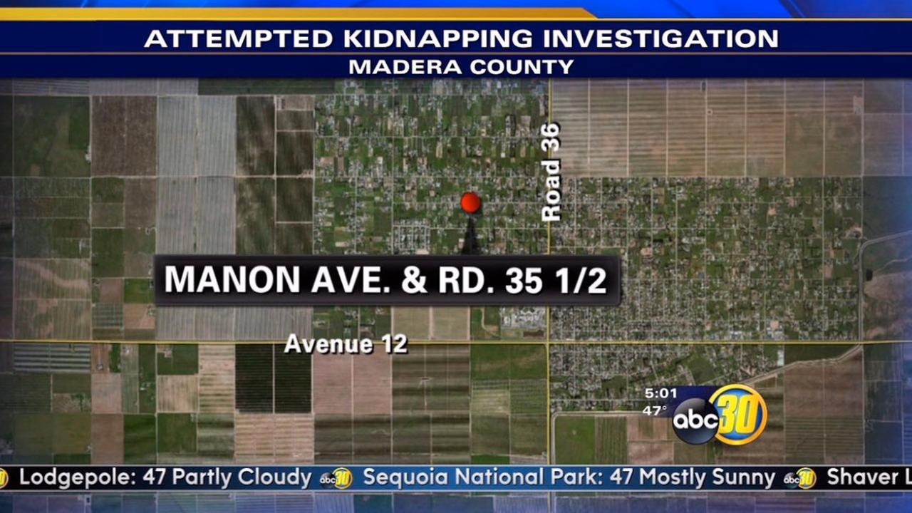 The Madera County Sheriffs Office says a black minivan approached the girl last night near Manon Avenue and Road 35 1/2.