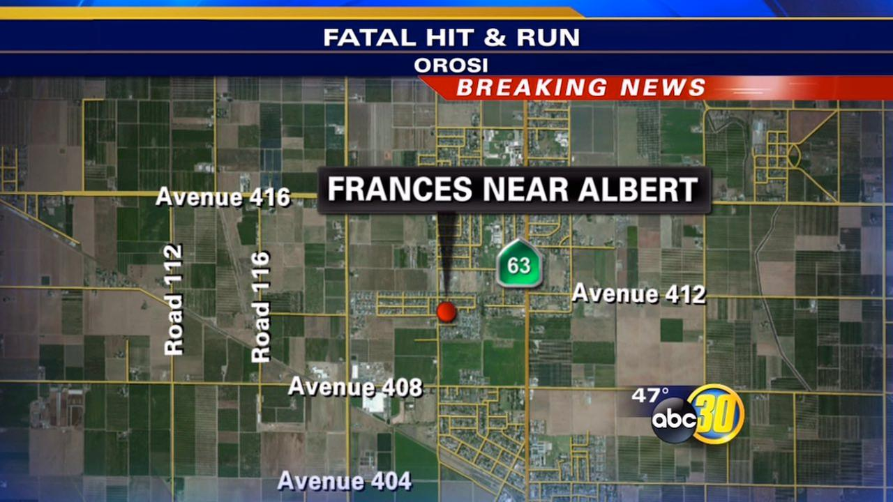 Woman in her 80s dies in Orosi hit-and-run crash