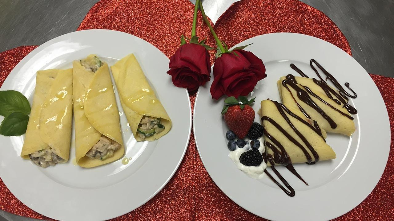 Wweet and savory crepes