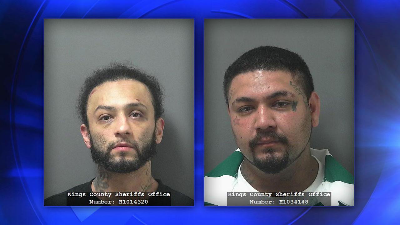 Suspects Roger Silva (left) and Gabriel Sanchez (right)
