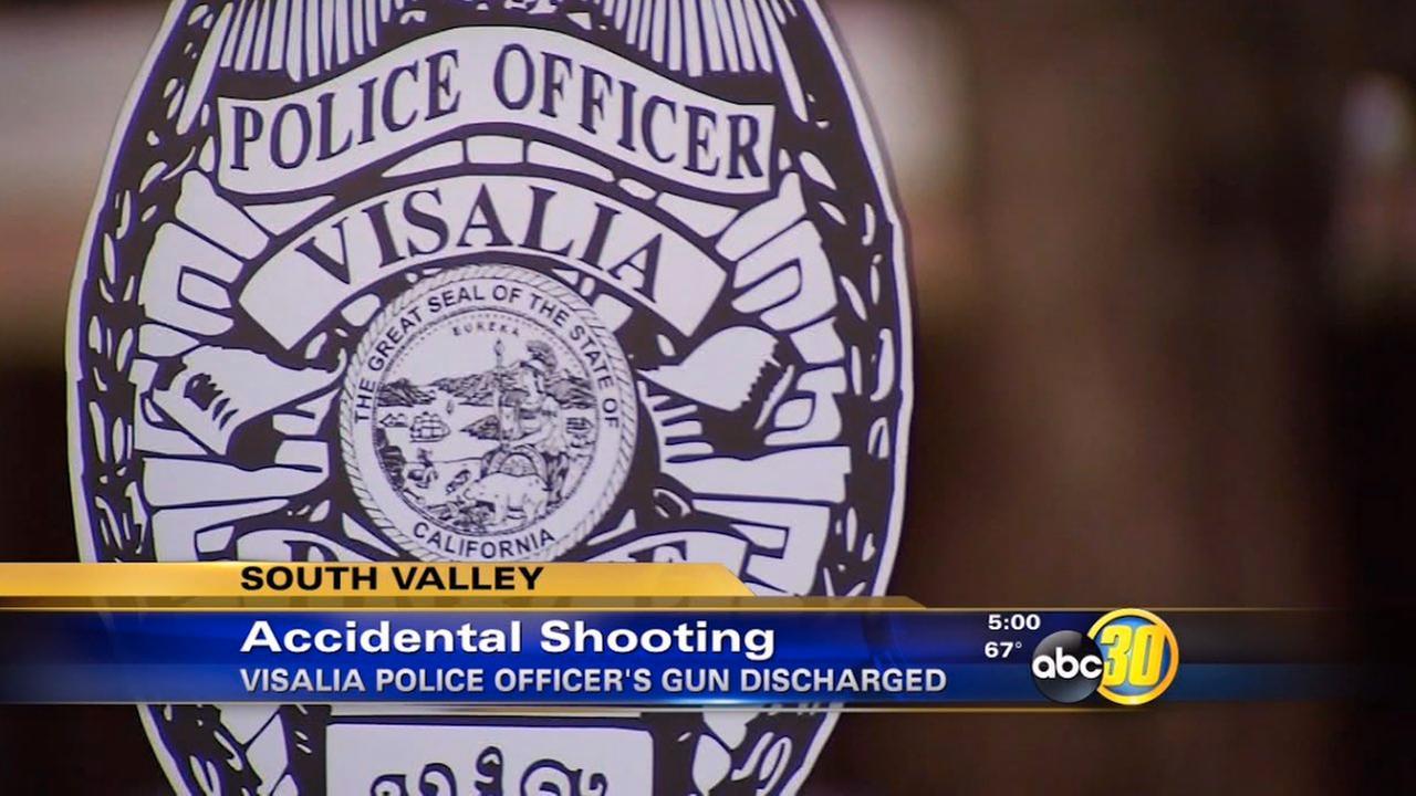Visalia PD officer's gun accidentally discharges, family member hit