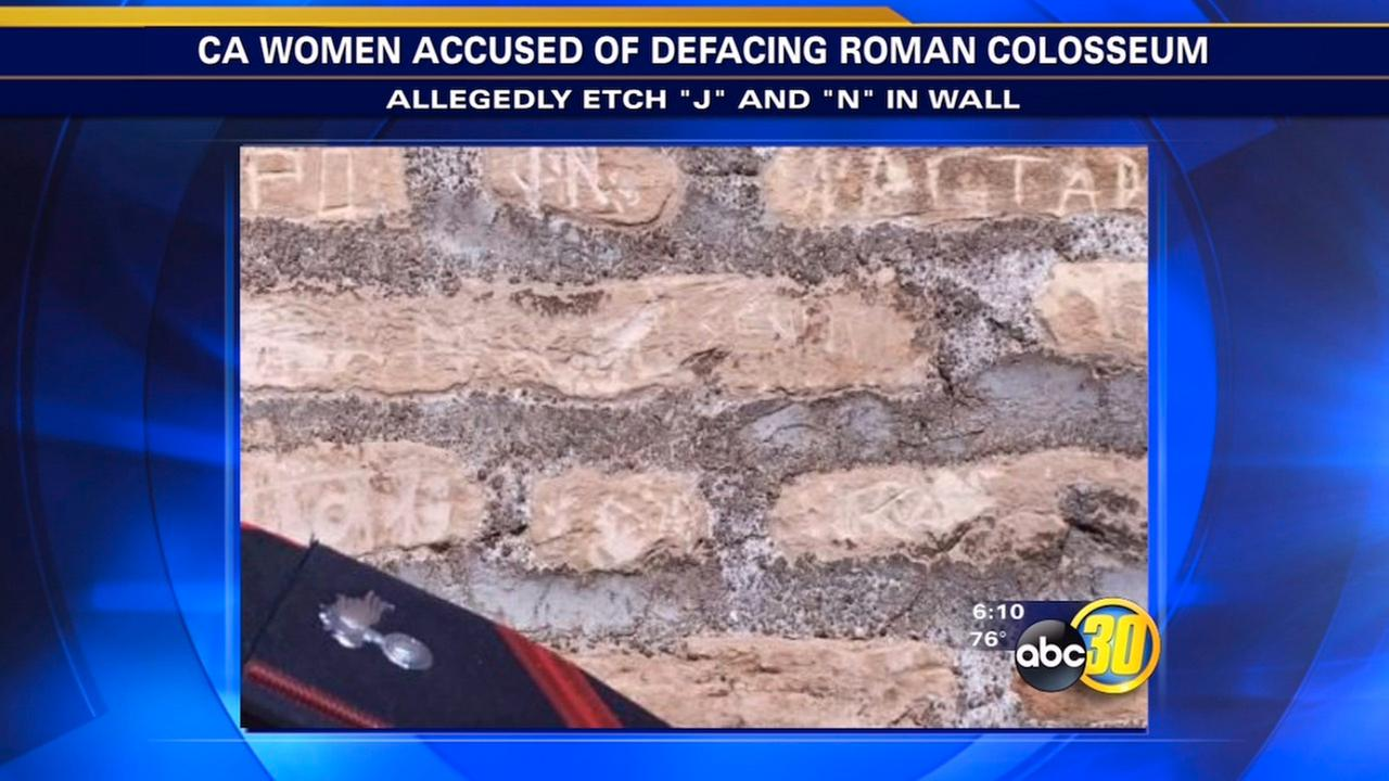 California tourists accused of carving initials into Romes Colosseum