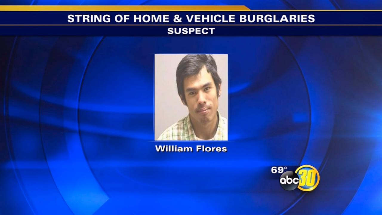 Suspect arrested in Kingsburg home, vehicle burglaries