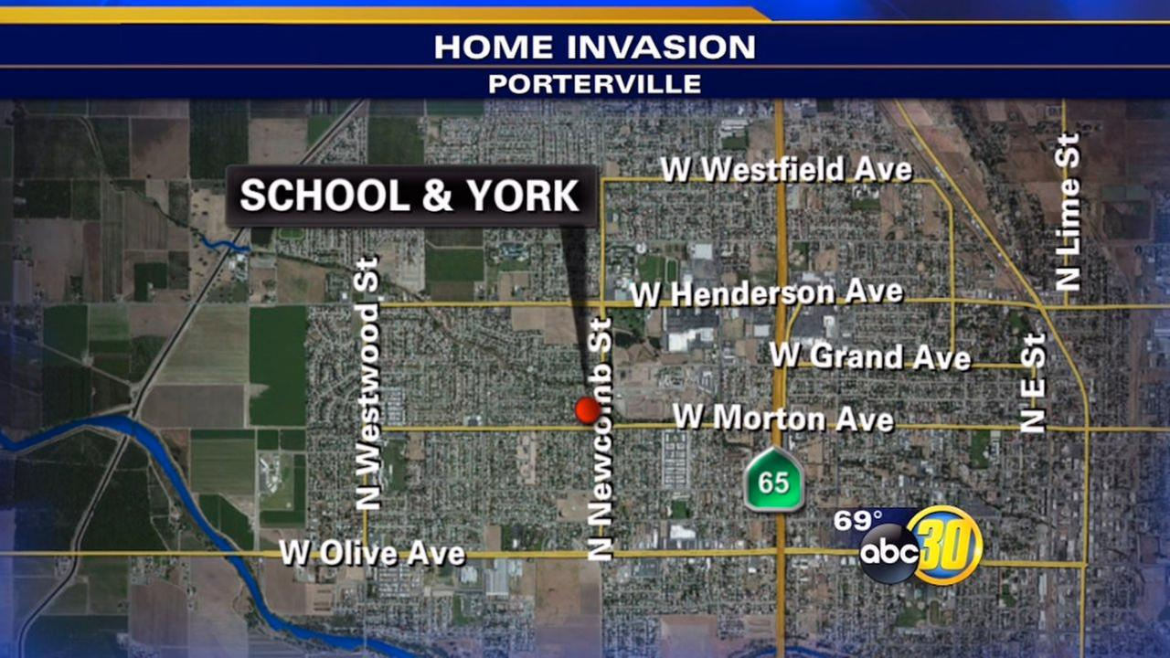 Victims lock themselves in closet during Porterville home-invasion robbery